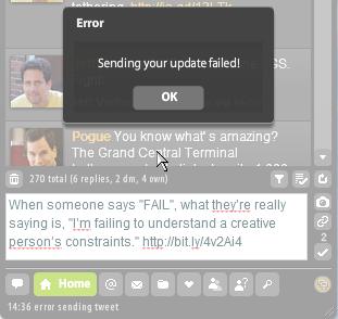 A FAIL fail